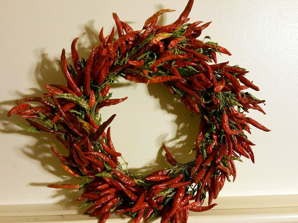 Hot Pepper Wreath | Blue Skys Farm | Cranston, RI