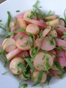 Butter Braised Radishes