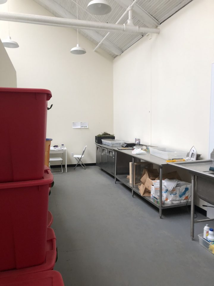 Our processing space at 560 Mineral Spring Ave.